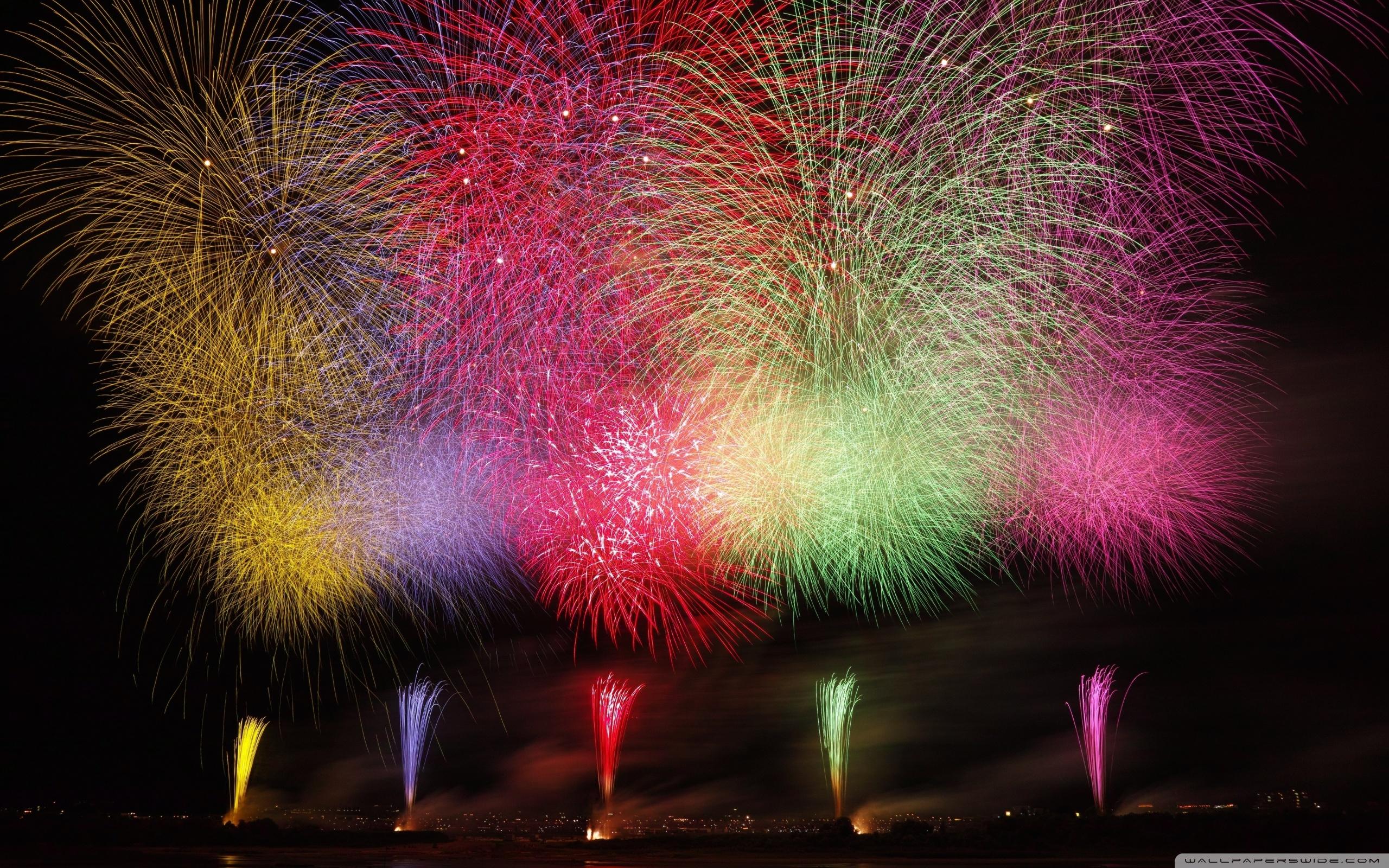Amazing Fireworks 2020 Ultra HD Desktop Background Wallpaper for 2560x1600