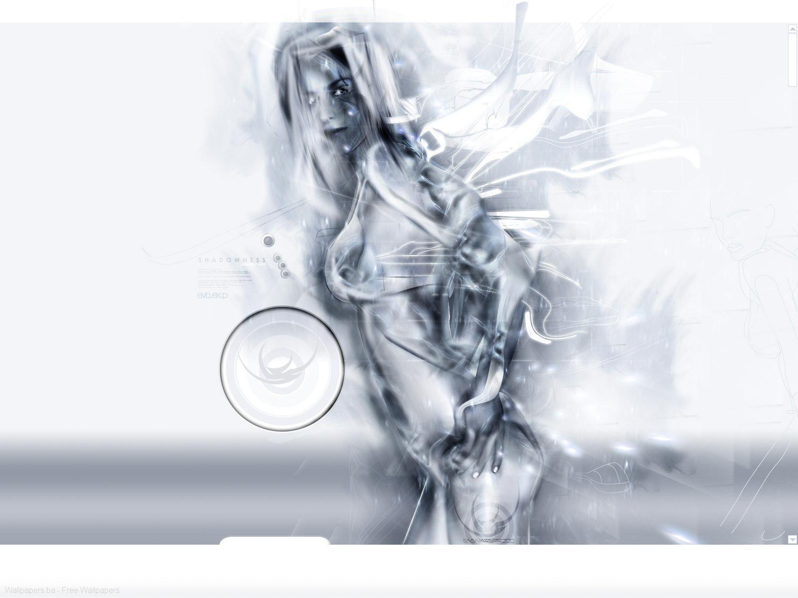 White 3D wallpapers White 3D background 1600x1200