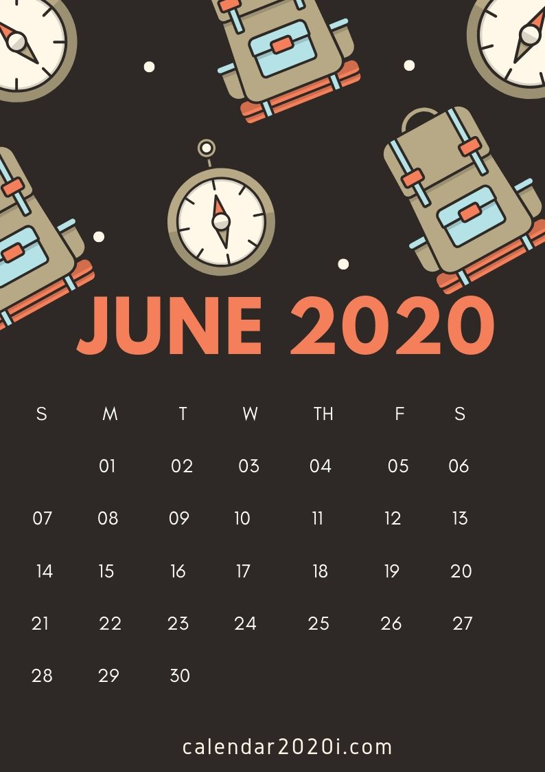 June 2020 iPhone Calendar Wallpaper Calendar wallpaper 794x1123