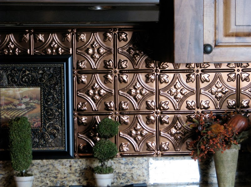 DIY Why Spend More Paintable wallpaper for a backsplash 801x597