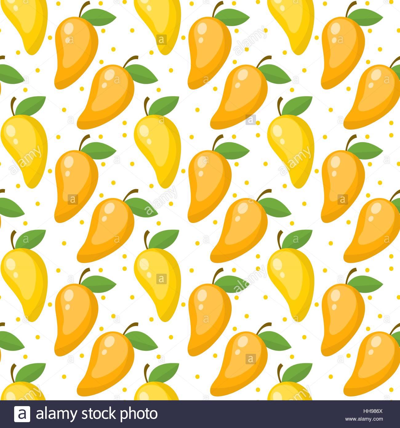 Mango seamless pattern endless background texture Fruits 1300x1390