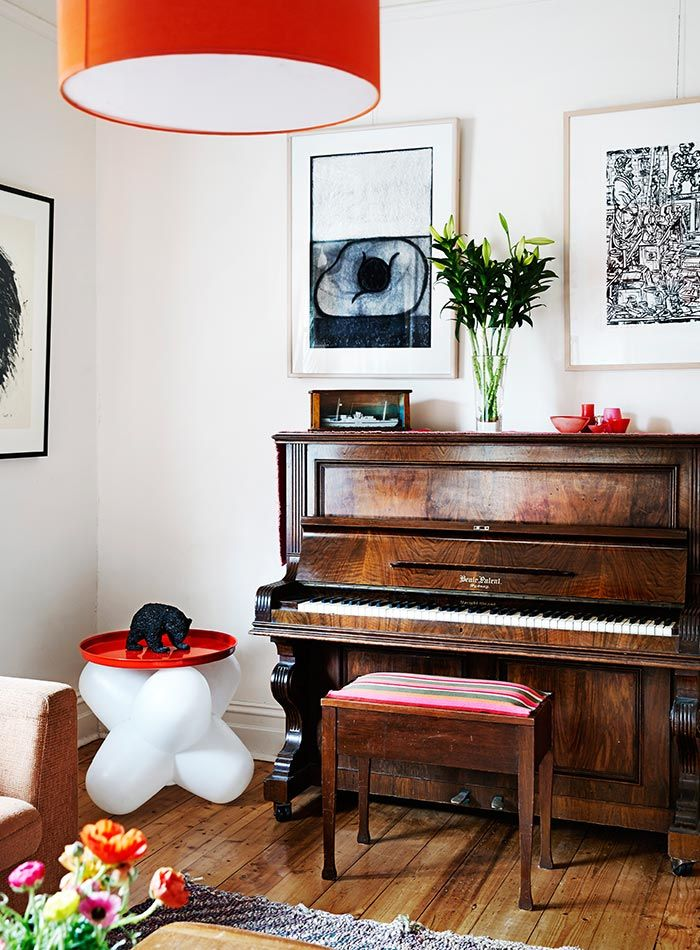 House Envy Sarah Murphys Delightful Urban Farmhouse Piano 700x950