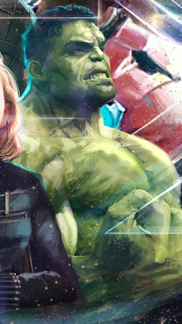 Free Download 720x1280 Thor Black Widow Hulk In Avengers Infinity War Artwork 720x1280 For Your Desktop Mobile Tablet Explore 16 Hulk Infinity War Wallpapers Hulk Infinity War Wallpapers Infinity