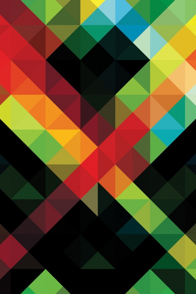 640x960 Abstract Colorful Pattern Iphone 4 wallpaper 640x960