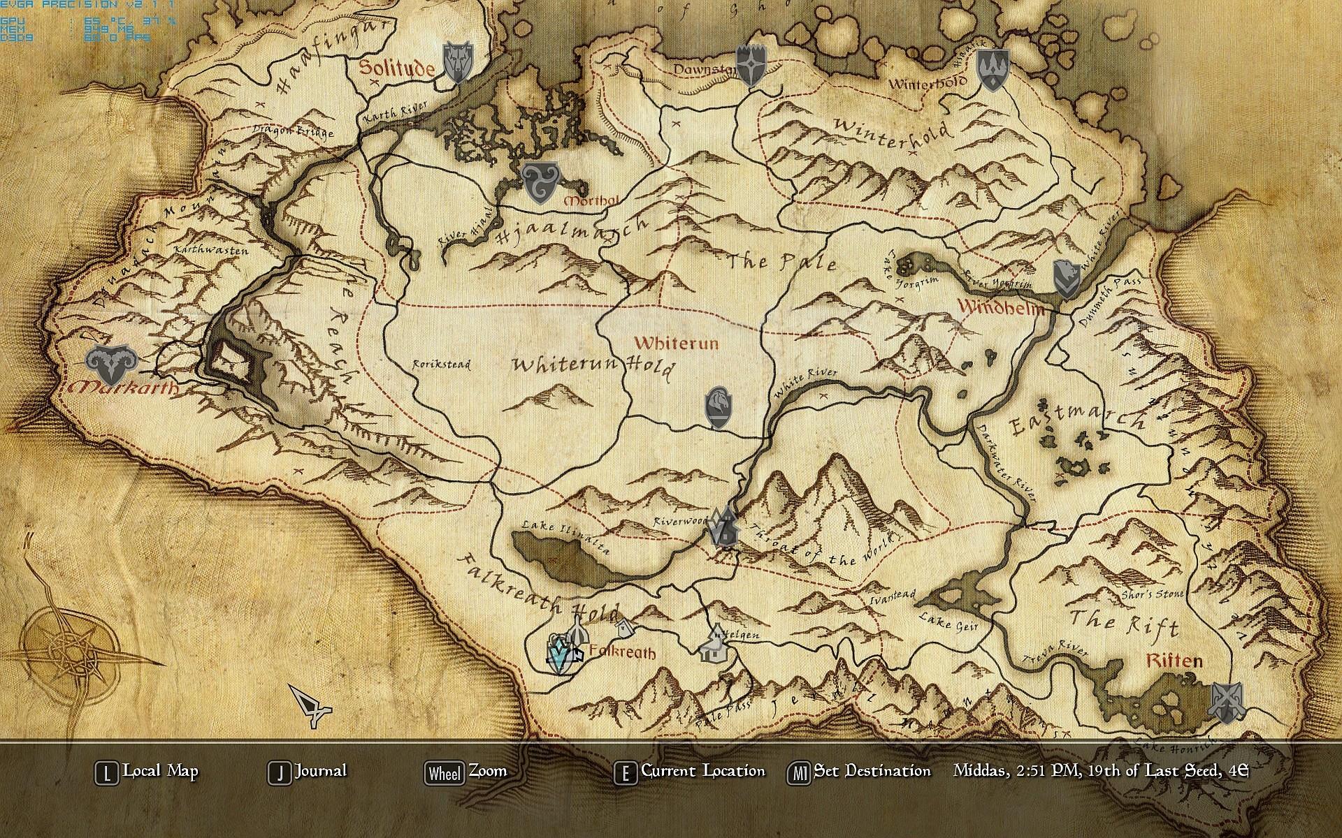Tamriel Map Wallpaper 55 images 1920x1200