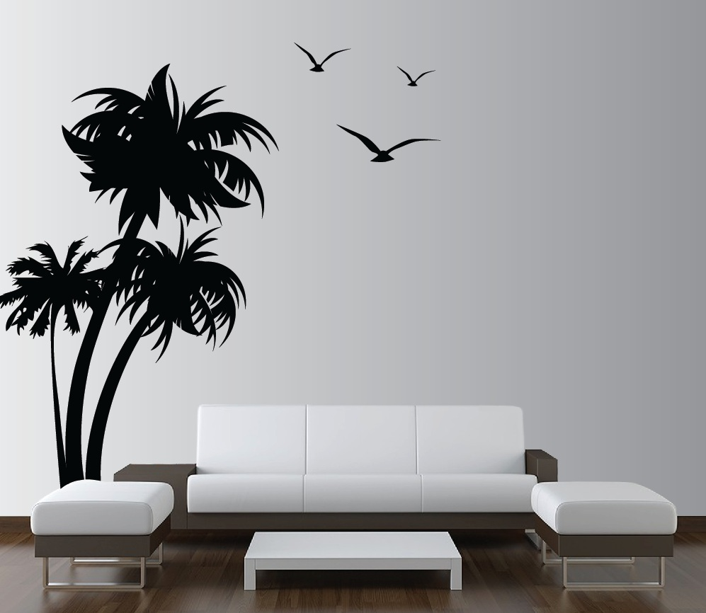 palm trees vinyl wall decal with seagulls 1132jpg 997x866