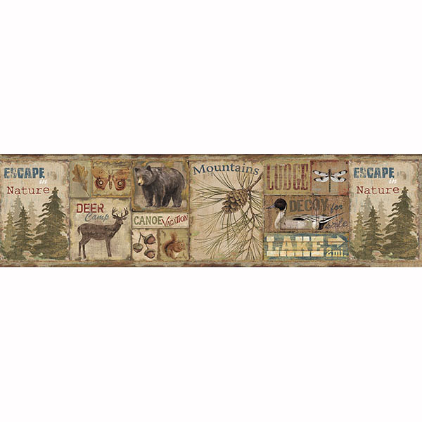 Deer Camp Border   Attitash   ECHO LAKE LODGE Wallpaper by Chesapeake 600x600