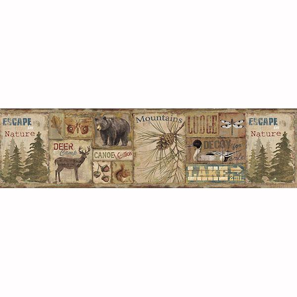 Deer Camp Border   Attitash   ECHO LAKE LODGE Wallpaper by Chesapeake 600x600