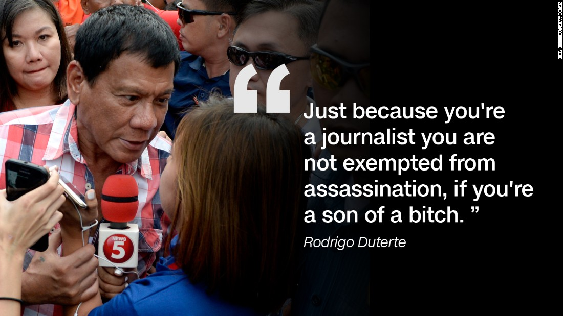 Philippines President Duterte sparks outrage with misogynist 1100x619