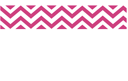 Hot Pink White Chevron Zig Zag Wall Border 500x317