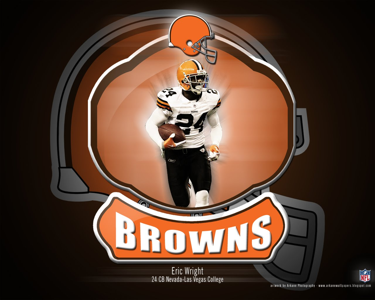 Arkane NFL Wallpapers Eric Wright   Cleveland Browns 1280x1024