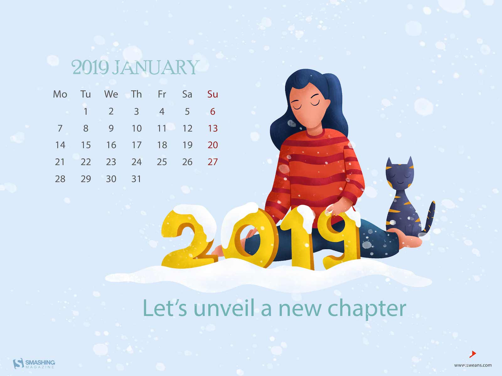 New Year New Beginnings January 2019 Wallpapers Edition 1600x1200