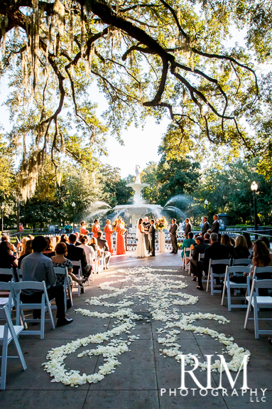 Forsyth Park Wedding Ceremony in Savannah GA 383x575