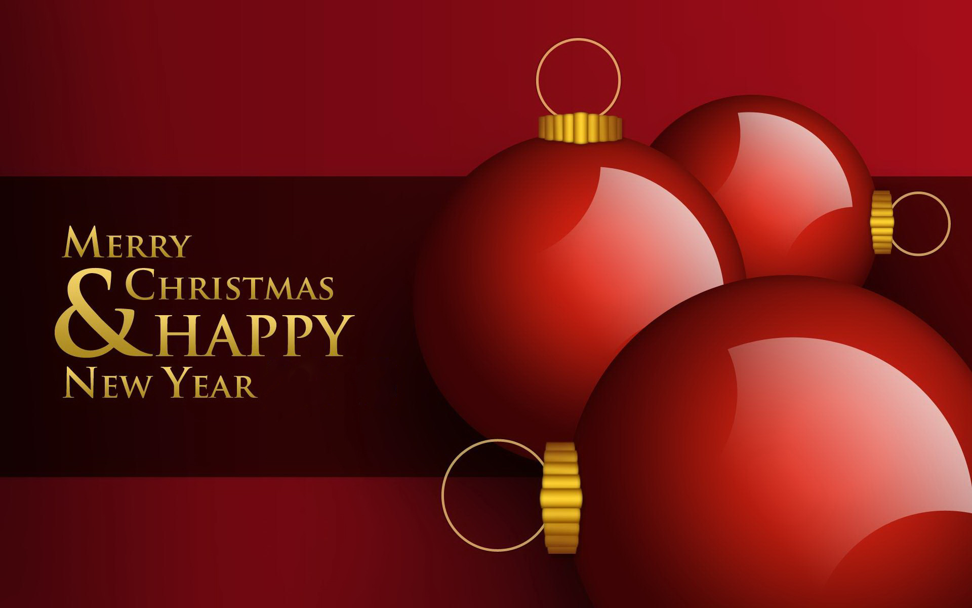 Merry Christmas and Happy New Year 2015 Wallpaper 1920x1200