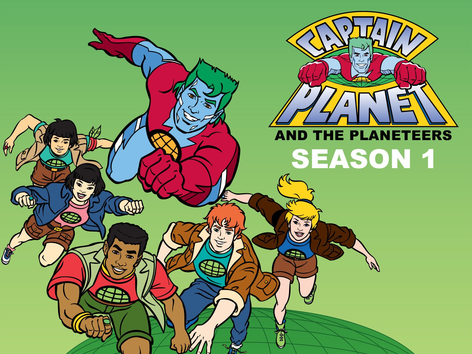 Amazoncom Watch Captain Planet and the Planeteers Season 1 1600x1200