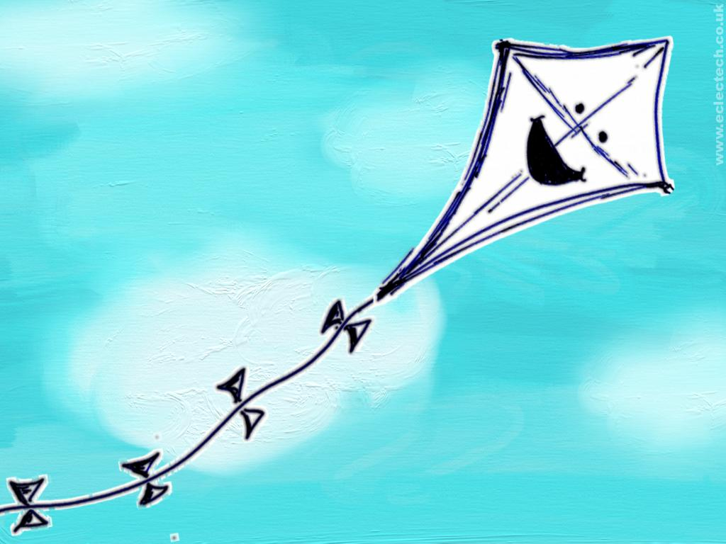 Fly Kite Wallpaper 1024x768