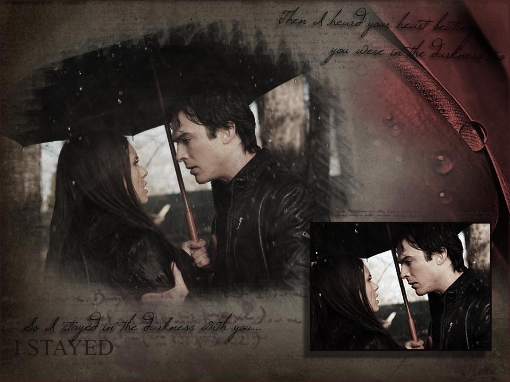 damon elena the vampire diaries 11313474 1024 768jpg 1024x768