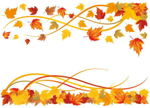 Vector Fall Leaf Border Tera Wallpaper 595x431