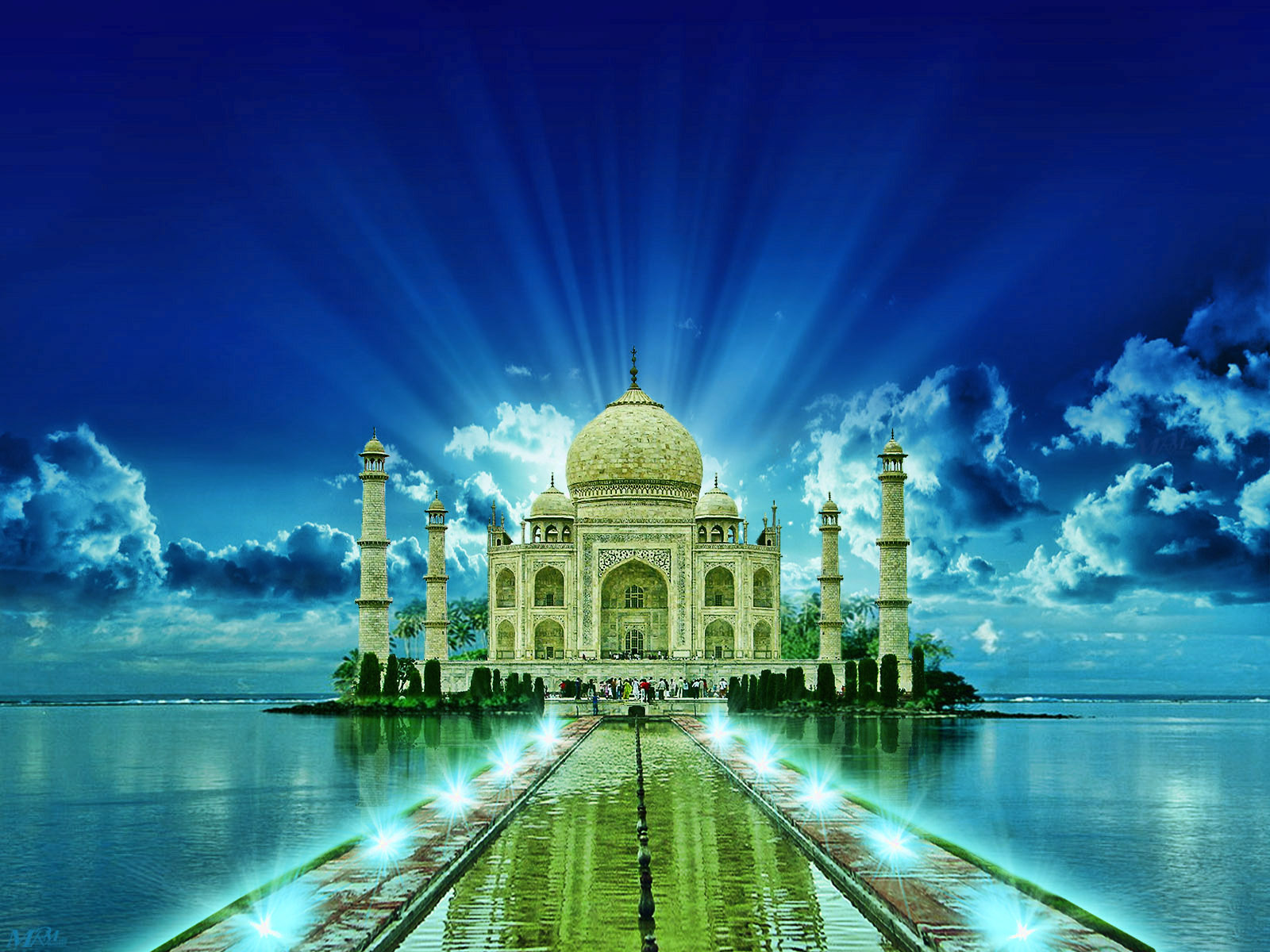 HD WALLPAPER GALLERY Taj Mahal India wallpaper 1600x1200