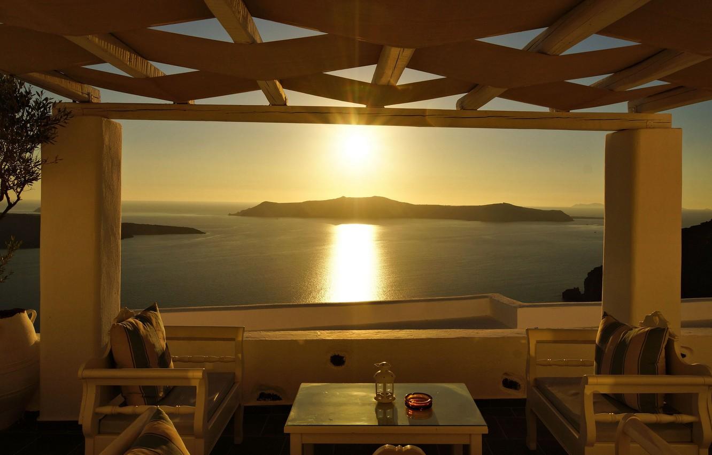 Wallpaper summer stay view Greece panorama resort Notio 1332x850