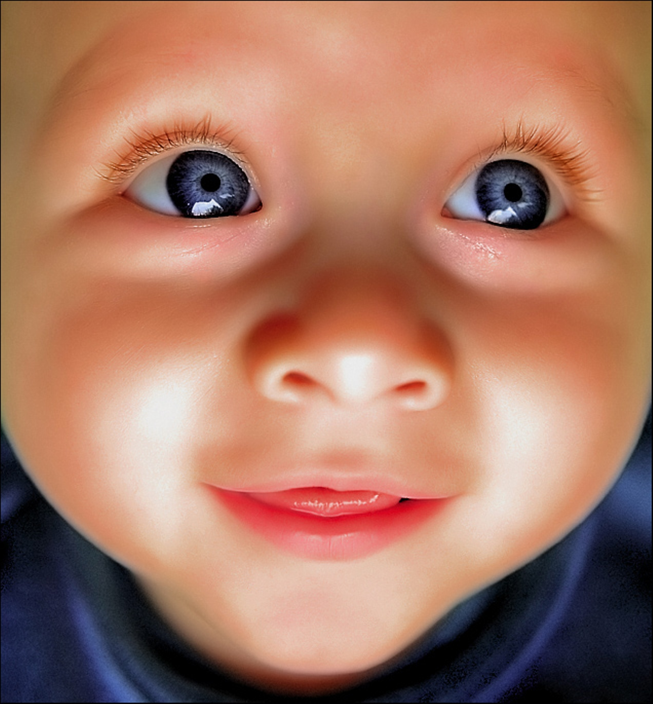 Baby With Beautiful Blue Eyes   Baby Wallpapers 1272x1370