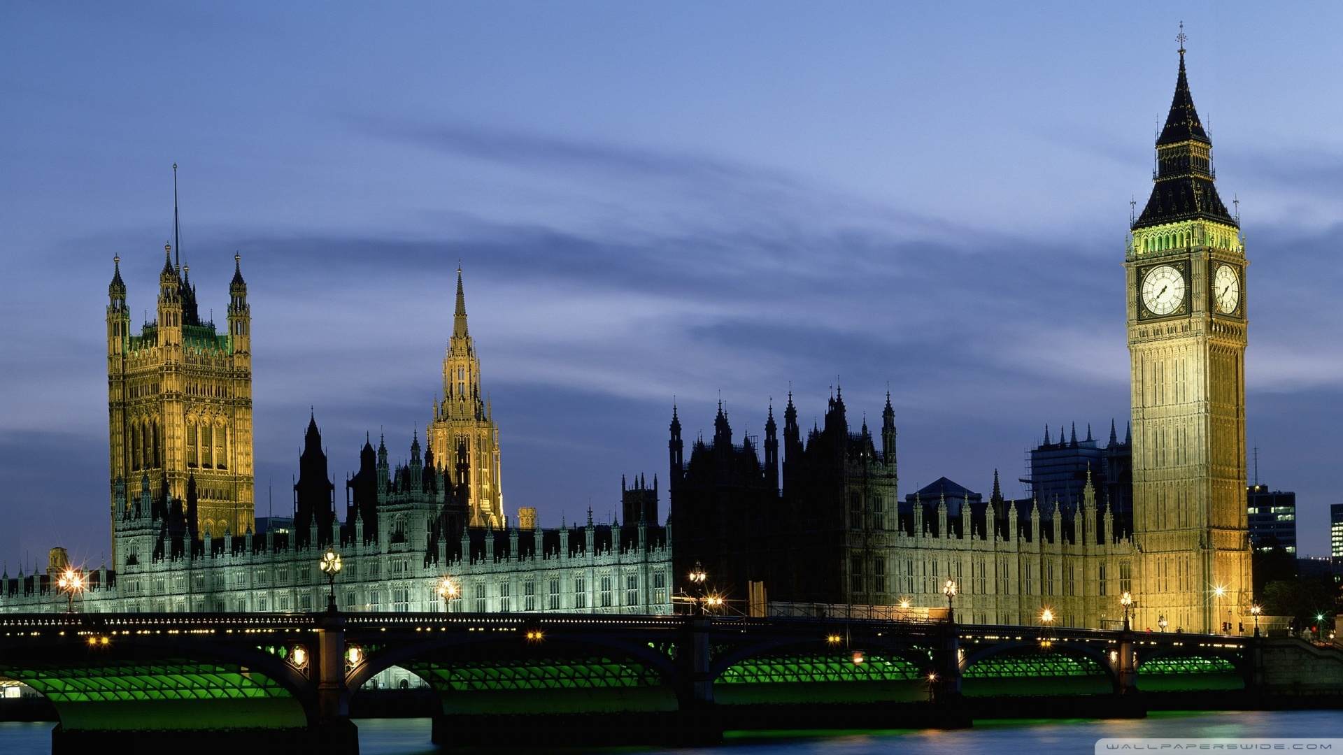 Houses Of Parliament And Big Ben London Uk Europe Wallpaper 1920x1080 ...