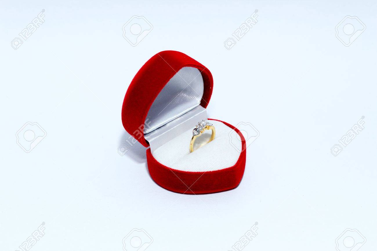 Diamond Wedding Ring For Women On Heart Redbox White Background 1300x866