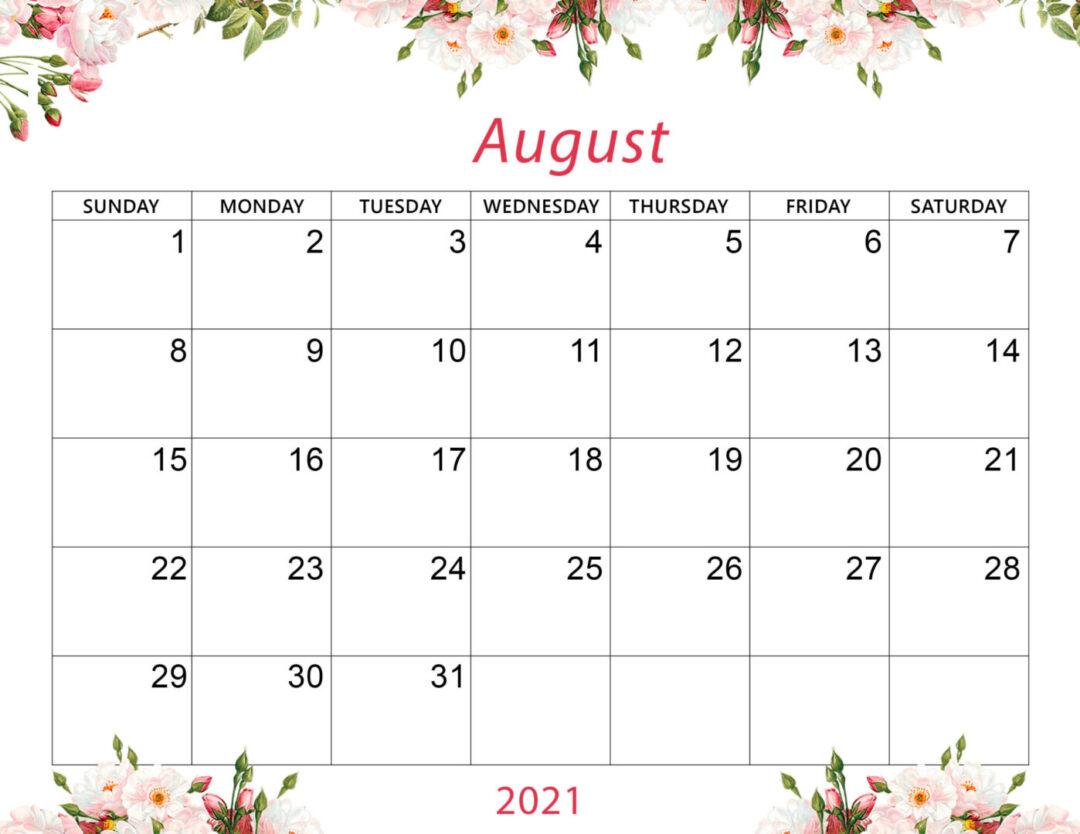 Cute August 2021 Calendar Desktop Wallpaper   Mycalendarlabs 2560x1978