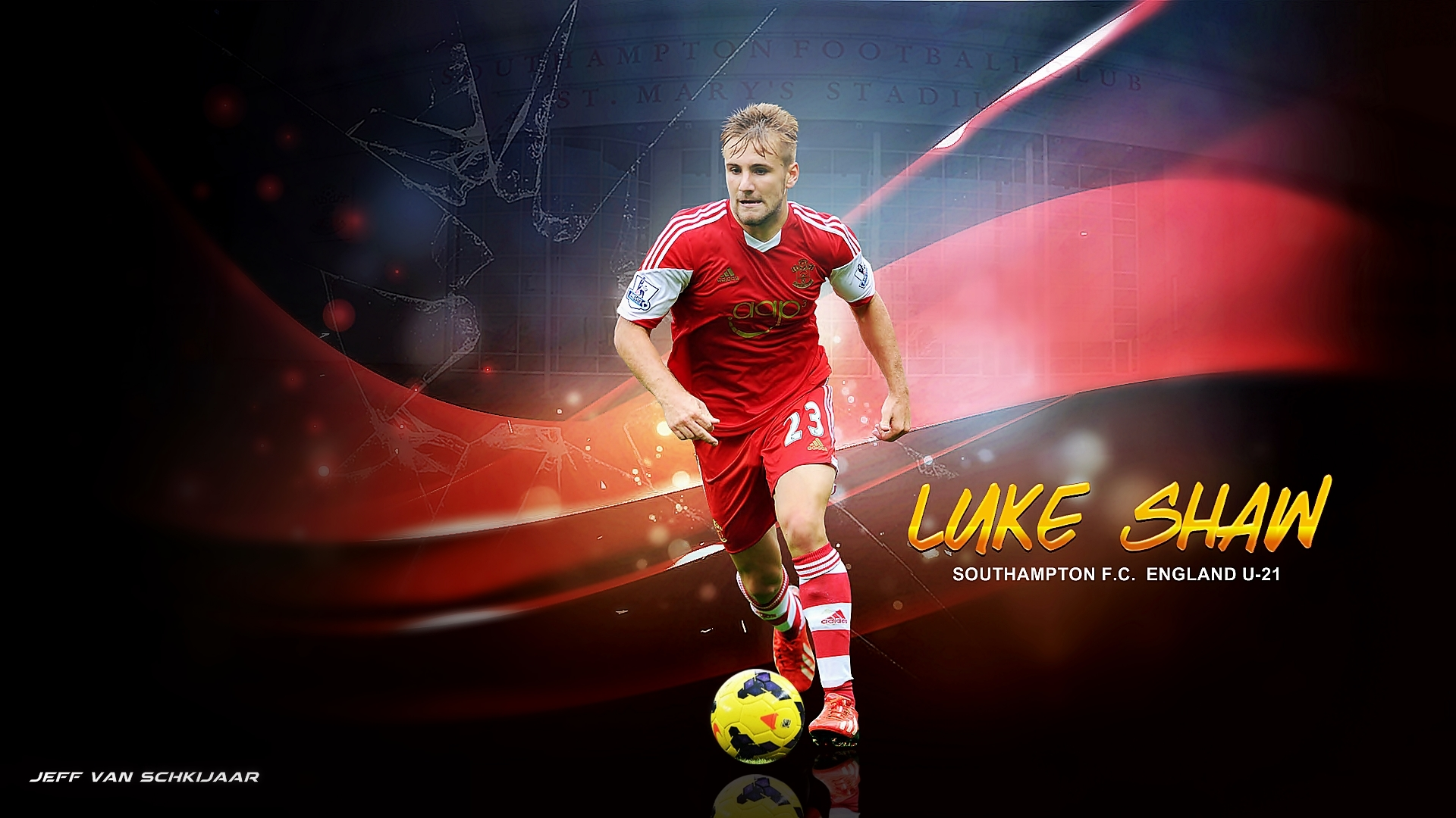Luke Shaw Southampton 2014 Wallpaper   Football Wallpaper 1920x1080