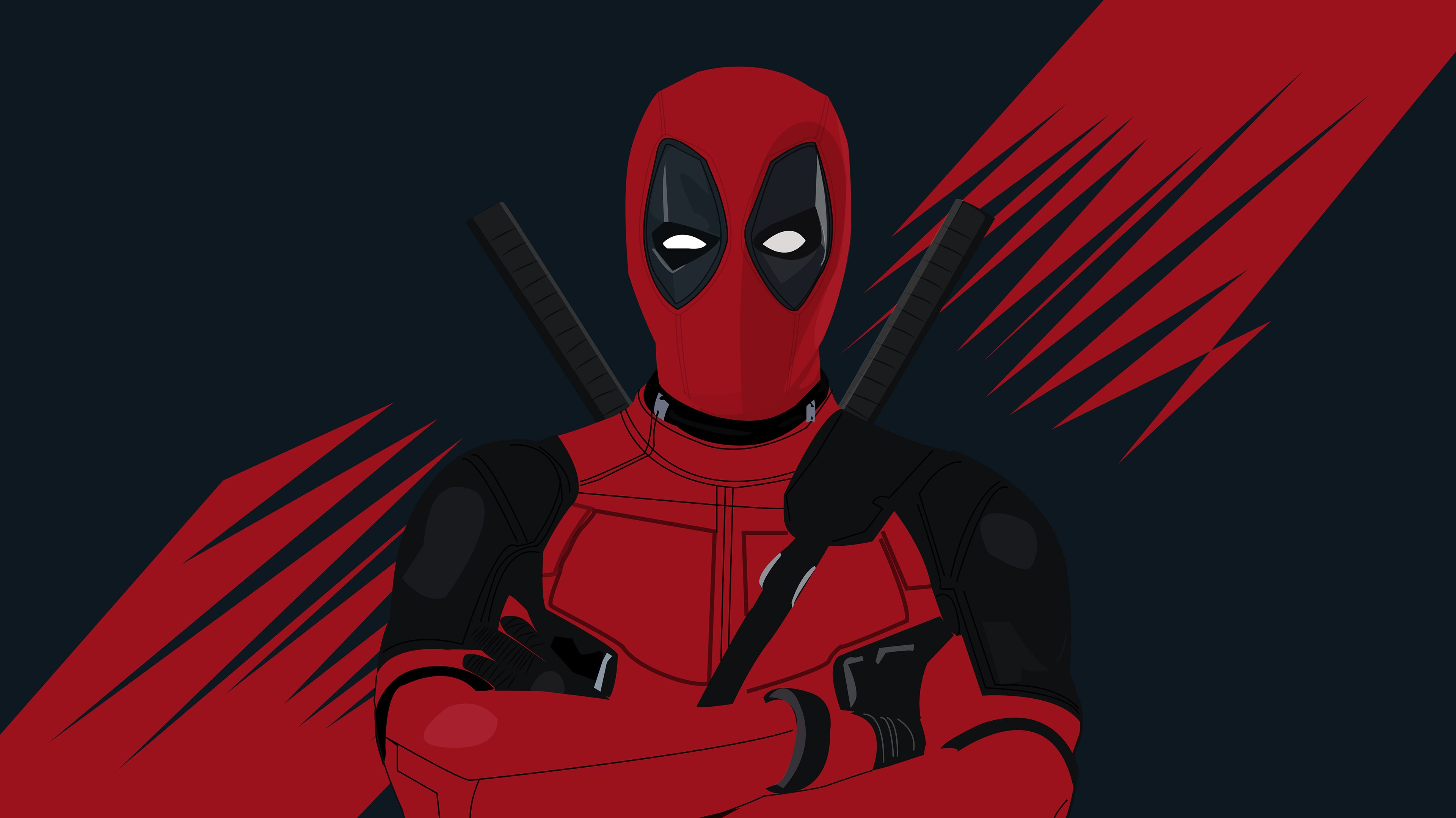 4k Deadpool Minimal 2019 superheroes wallpapers hd wallpapers