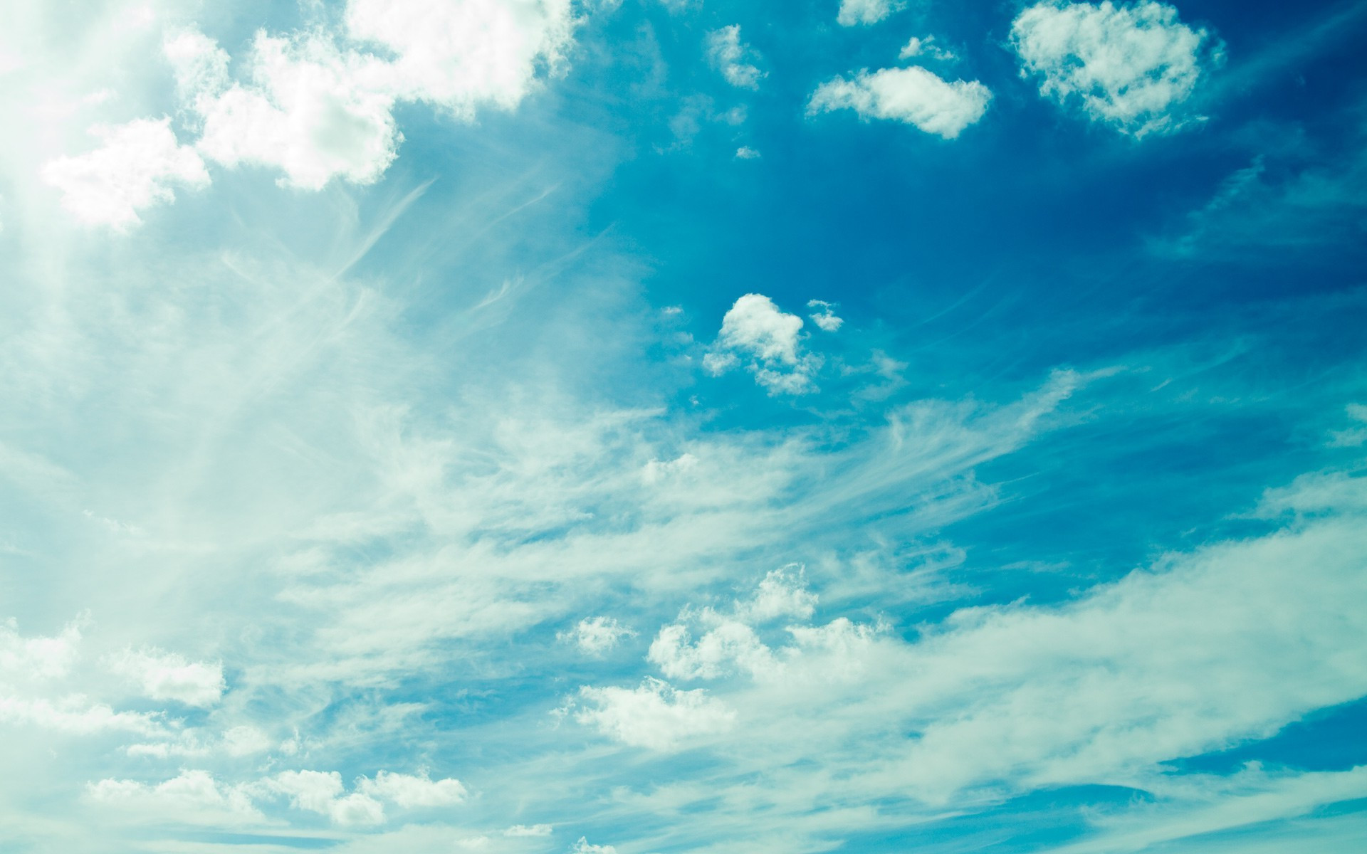 Blue sky and clouds wallpaper 6013 1920x1200