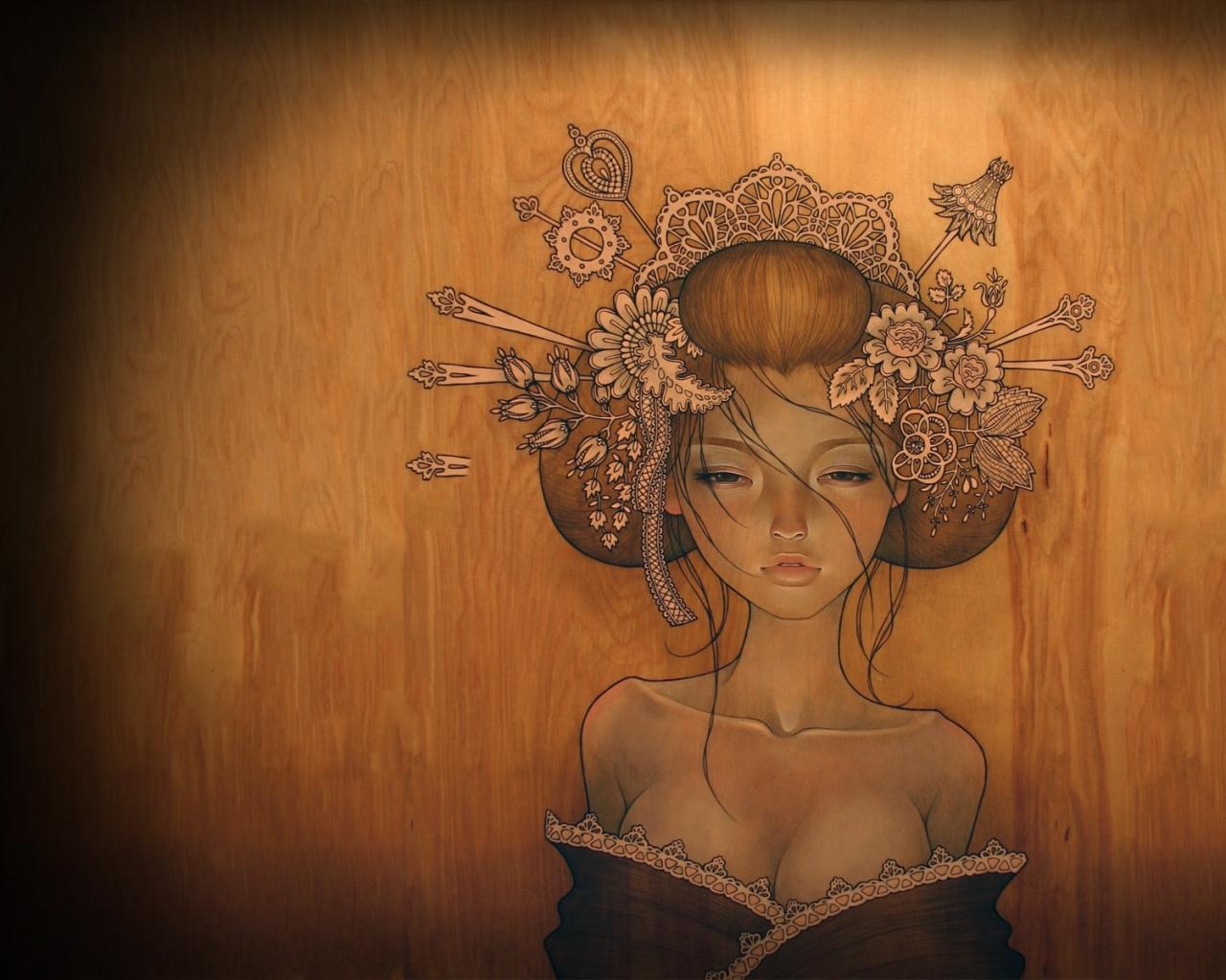audrey kawasaki artwork 1920x1200 wallpaper Wallpaper 1280x1024