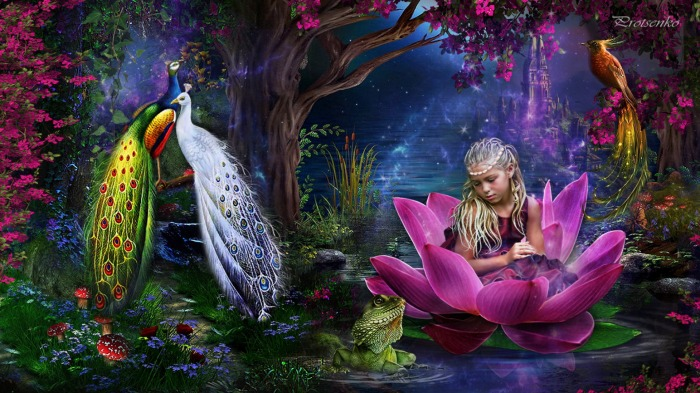 Magic Garden Wallpaper 1366x768   Dark Gray HD Desktop Background 700x393