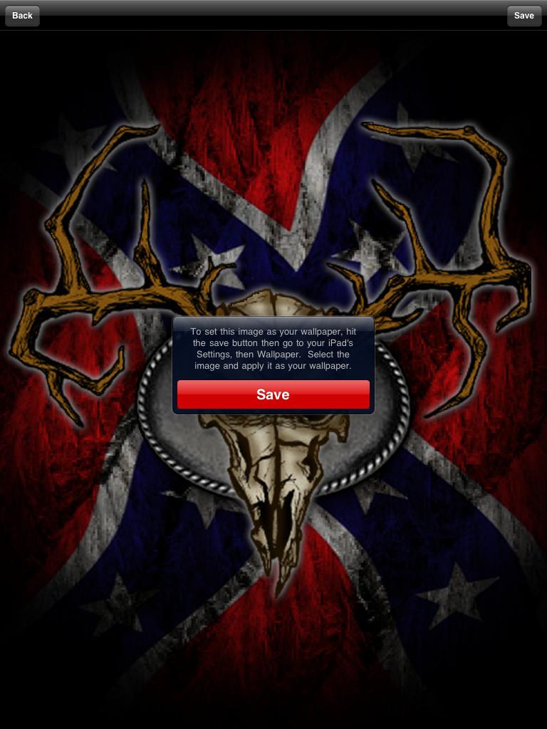 Shopper Southern Pride Rebel Flag Wallpaper for iPad Lifestyle