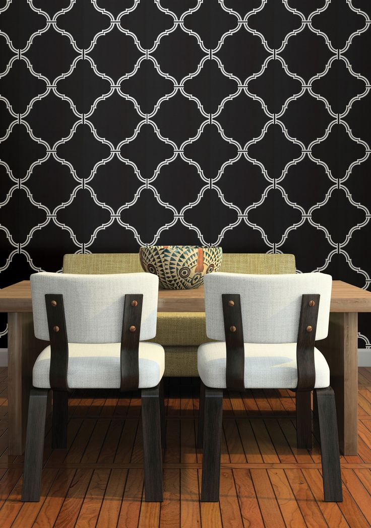 Wallpapers Moroccan Wallpapers House Wallpapers Black Moroccan 736x1048