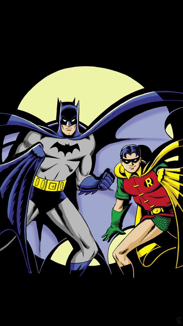 Batman and Robin iPhone 5 Wallpaper 640x1136 640x1136