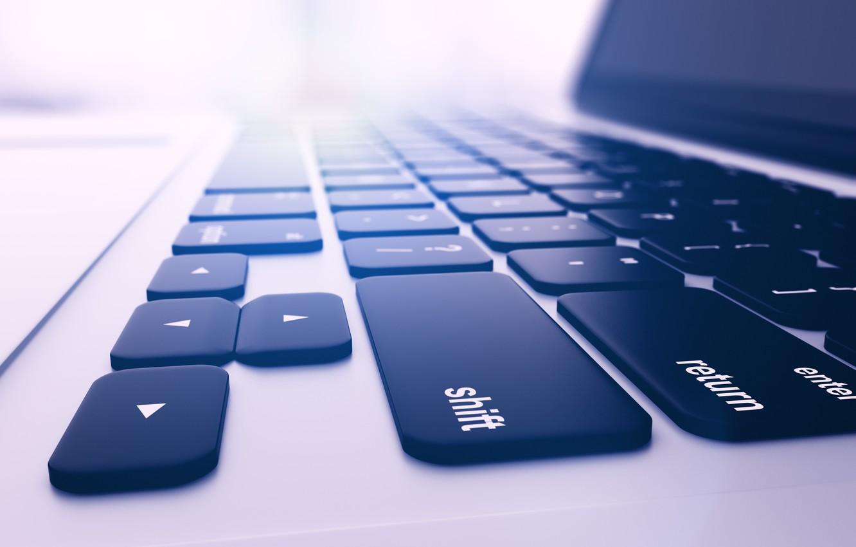 Wallpaper macro blur keyboard laptop display screen notebook 1332x850