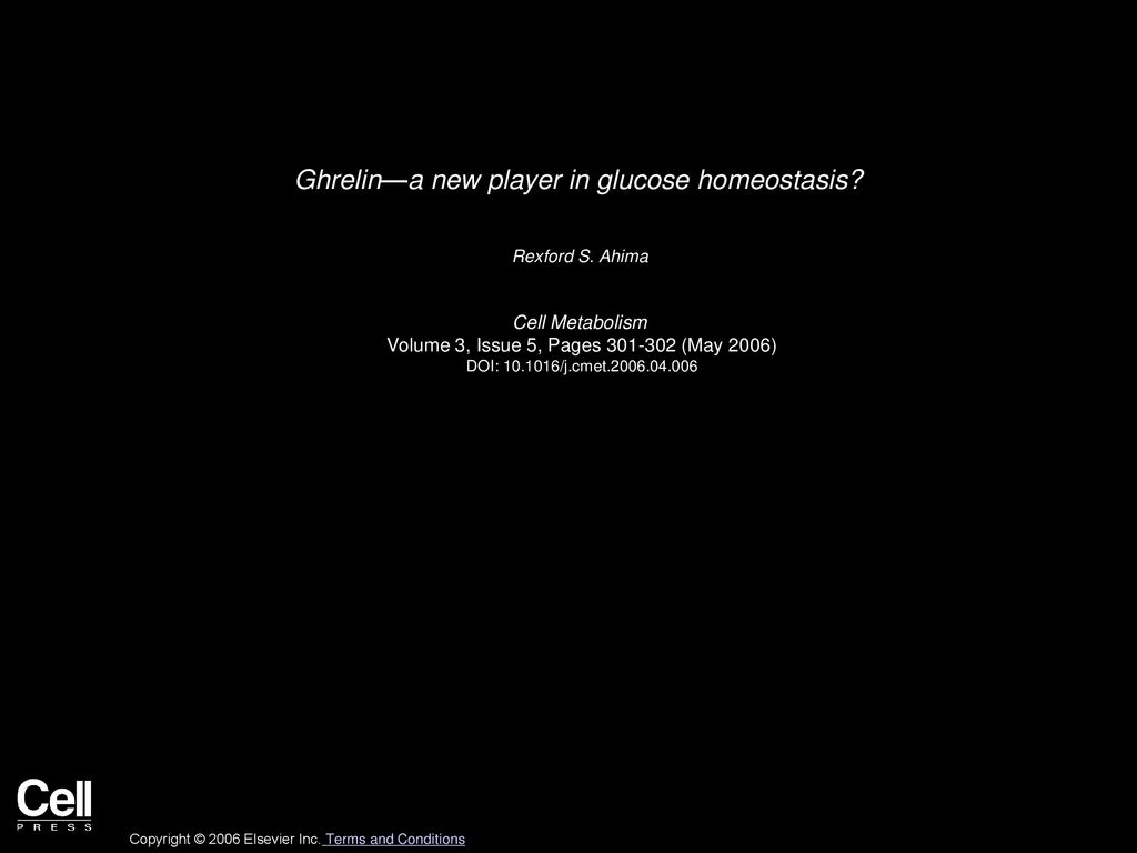Ghrelina new player in glucose homeostasis   ppt download 1024x768