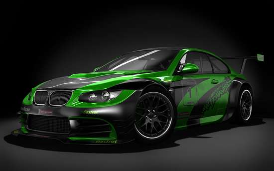 Cool Green And Black Cars Exotic green black colour 550x343