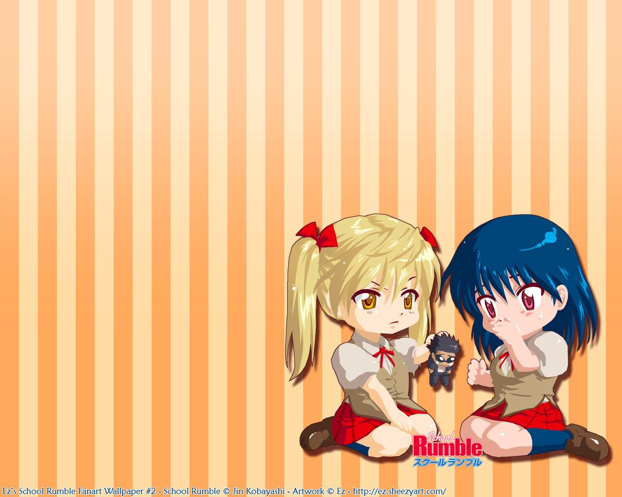 Pompom Ezu chan School Rumble Wallpaper jpg 1280x1024