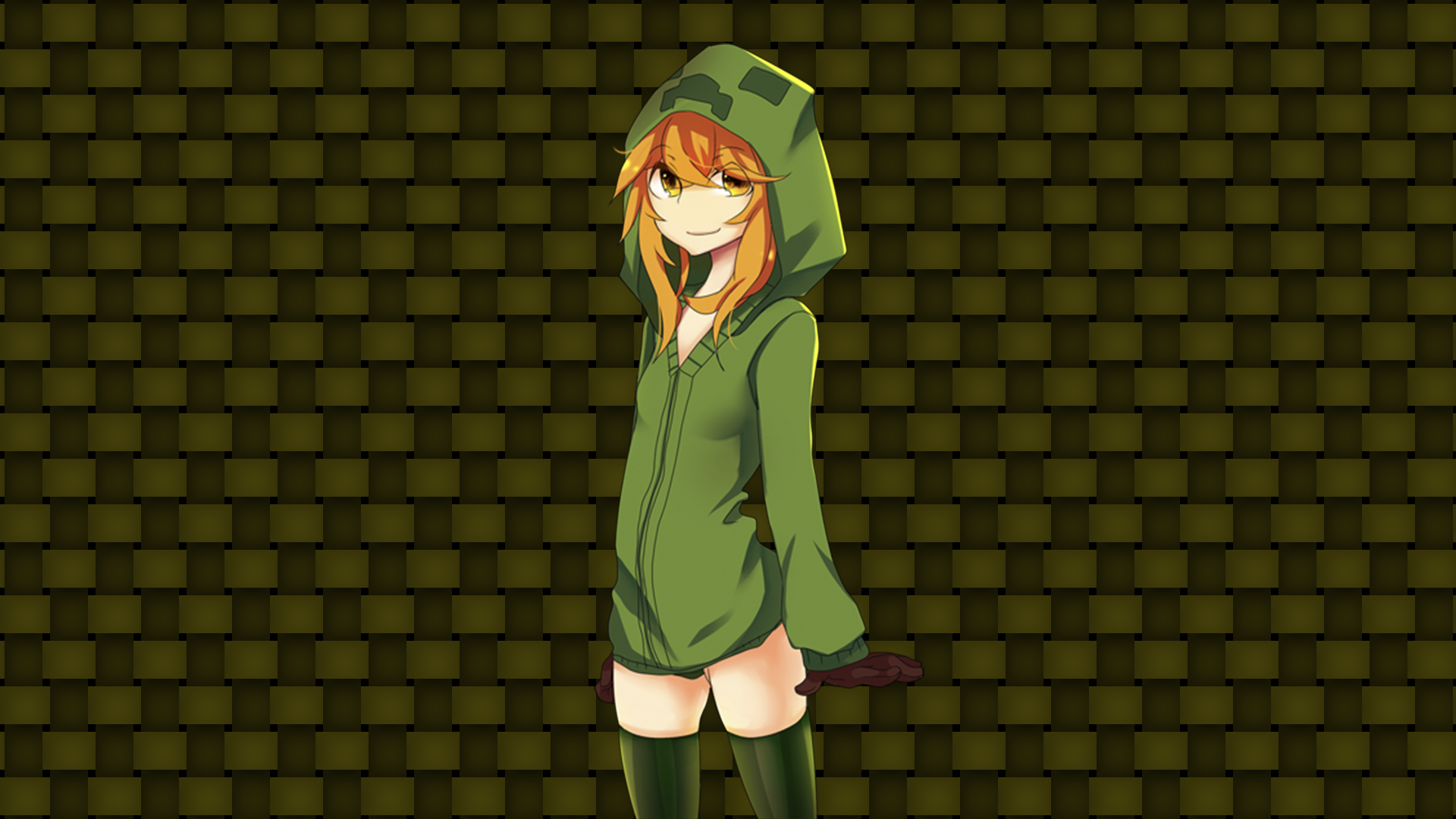 Video Game   Minecraft   Creeper   Women Anime Wallpaper 1920x1080