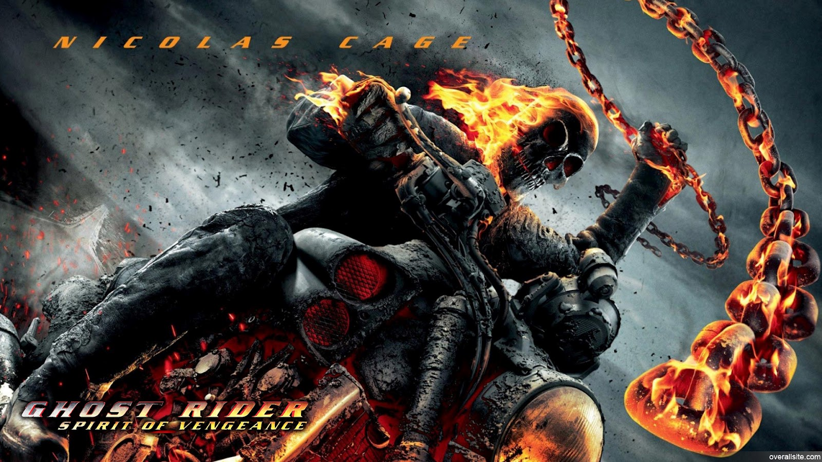 Ghost Rider 2 Spirit of Vengeance Wallpaper Graphic and Vector 1600x900