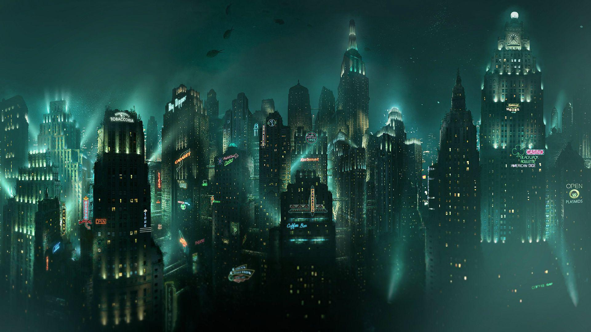 Rapture Wallpaper 1920x1080 Also works as a Facebook cover 1920x1080