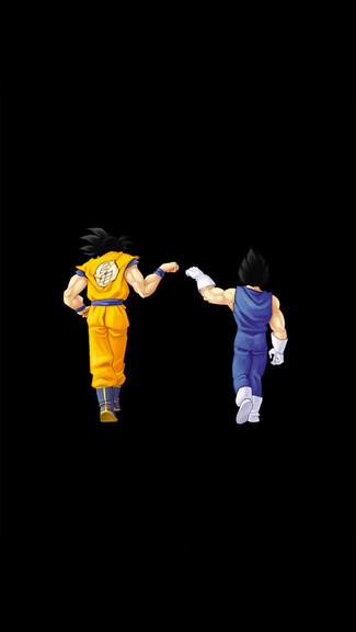 Dragon Ball Fistbump iPhone 5C 5S wallpaper 325x576