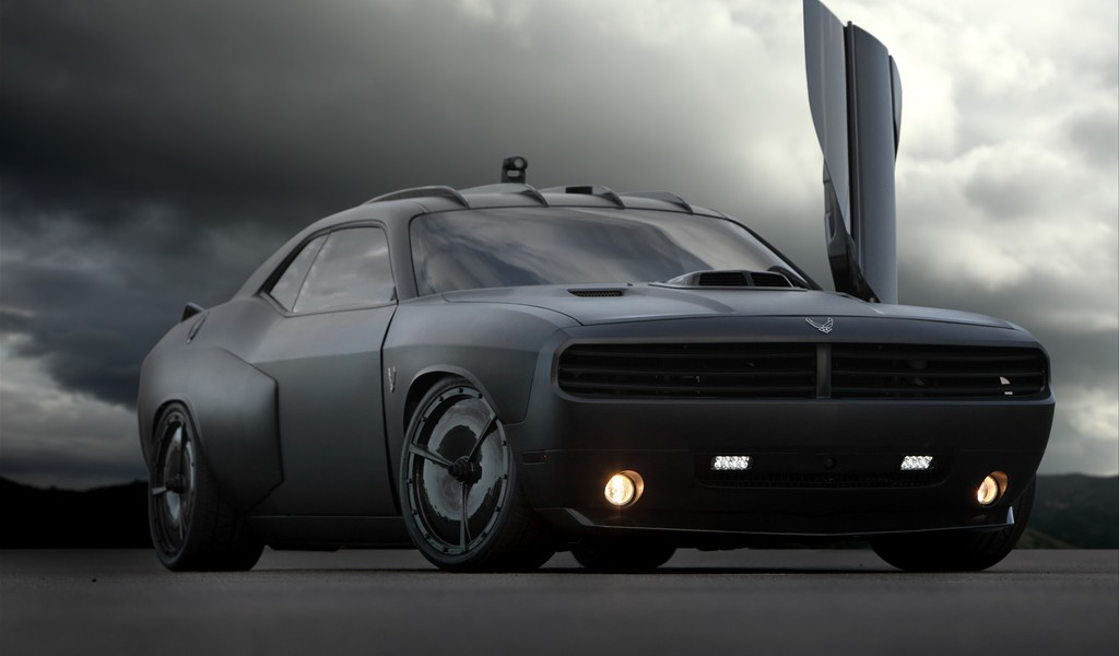 Dodge Challenger Vapor by US Air Force Widescreen Wallpaper   1296 1024x600