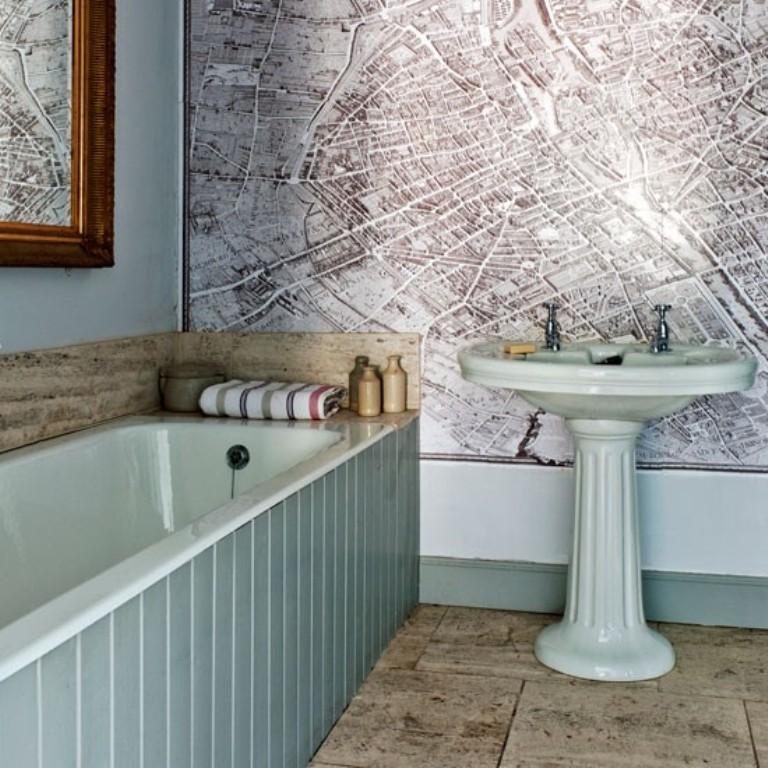 15 Gorgeous Bathroom Wallpaper Design Ideas Rilane   We Aspire to 768x768