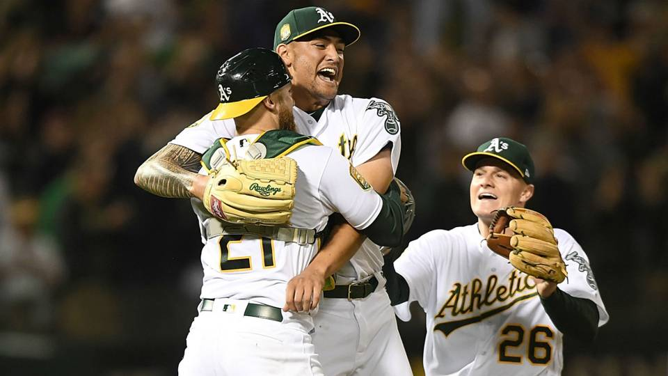 As pitcher Sean Manaea throws MLBs first no hitter of 2018 960x540