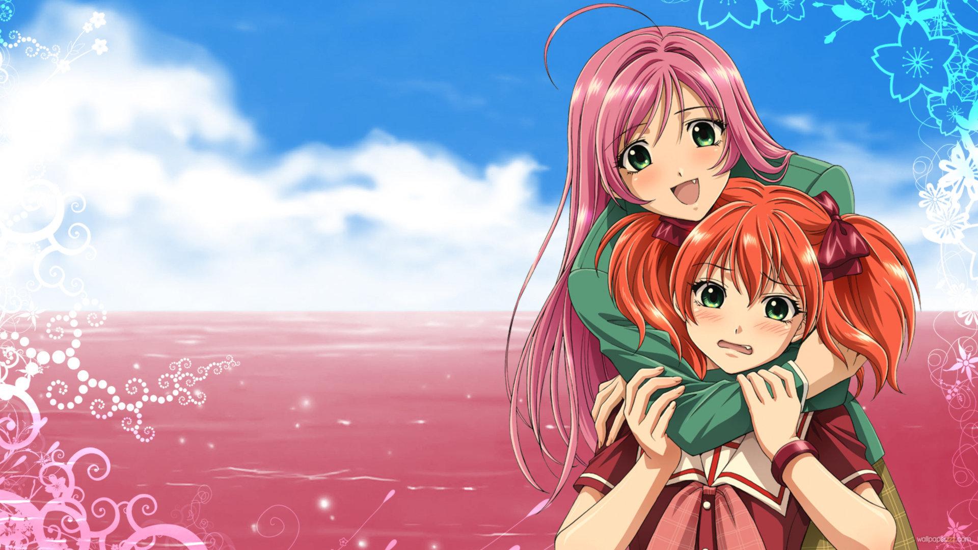 1920x1080 Anime girl pink hair Wallpaper