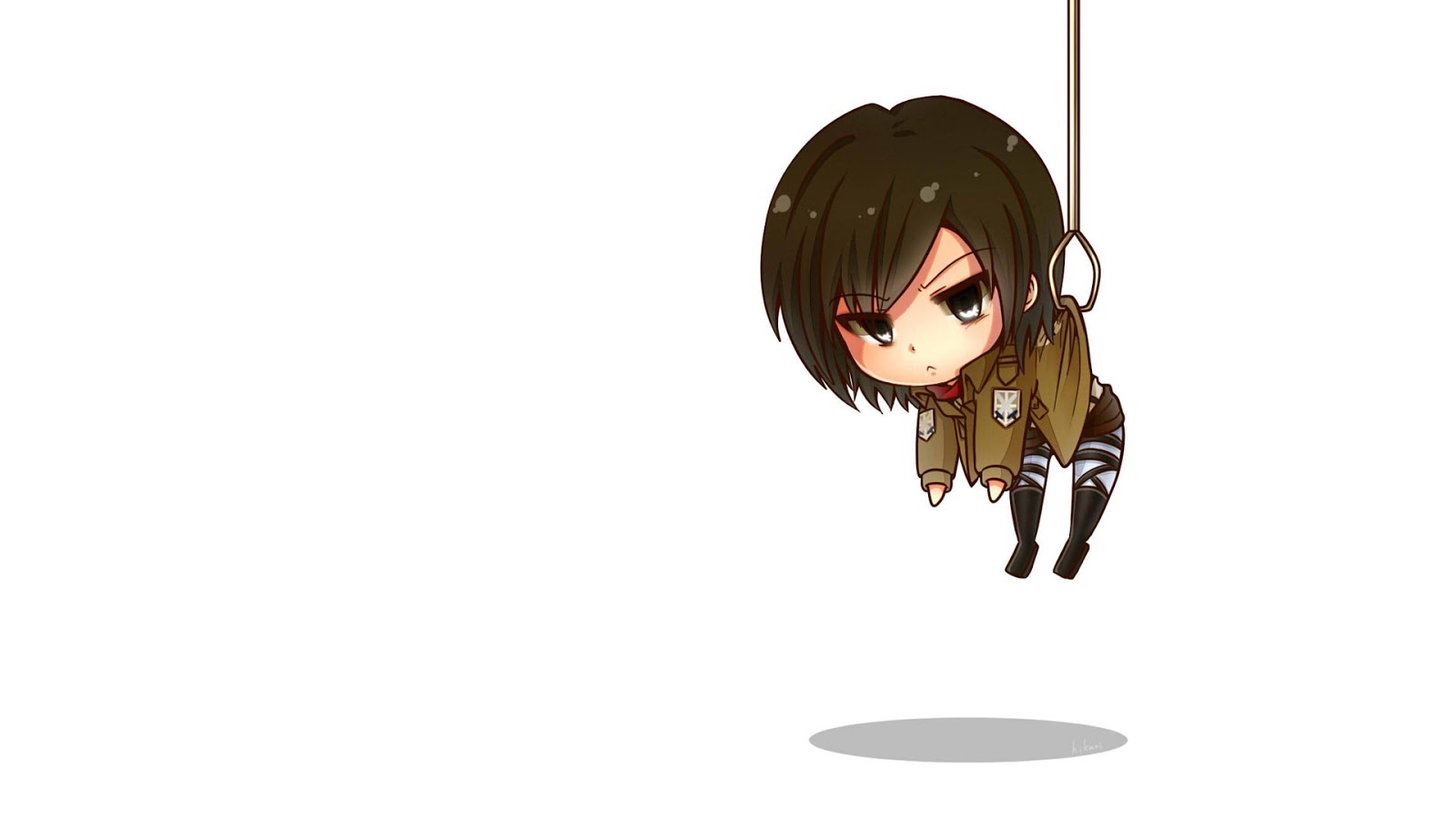 Chibi Cute Attack on Titan Shingeki no Kyojin Girl Anime HD Wallpaper 1600x900