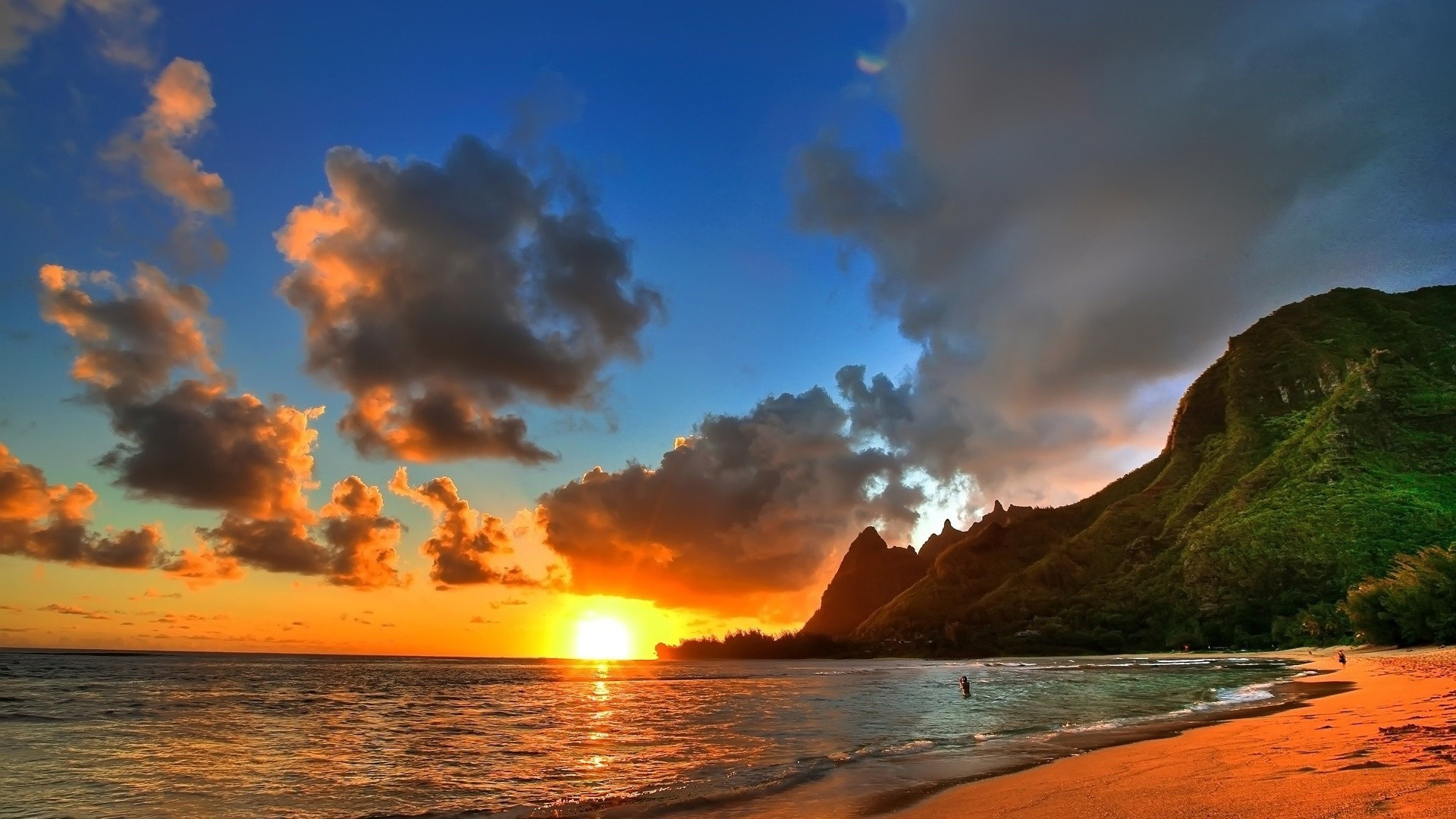 Wallpapers Beach Sunset 1080p For Desktop High Definition Wallpapers 1920x1080